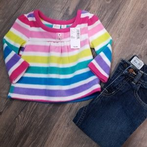 Rainbow fleece top